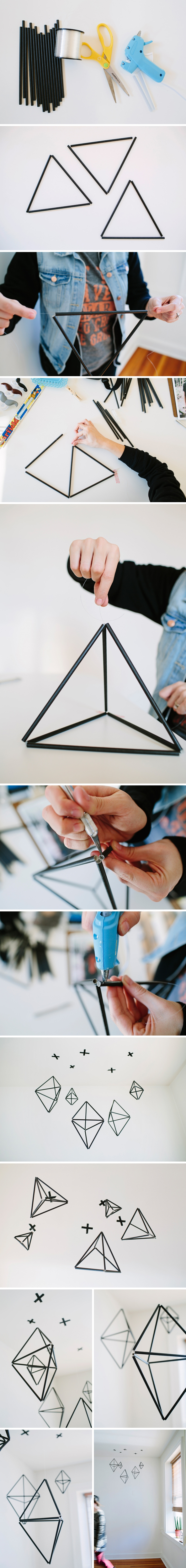 Tutorial completo em - http://shopwalkinlove.com/blogs/walk-in-love/12223817-geometric-straw-mobile